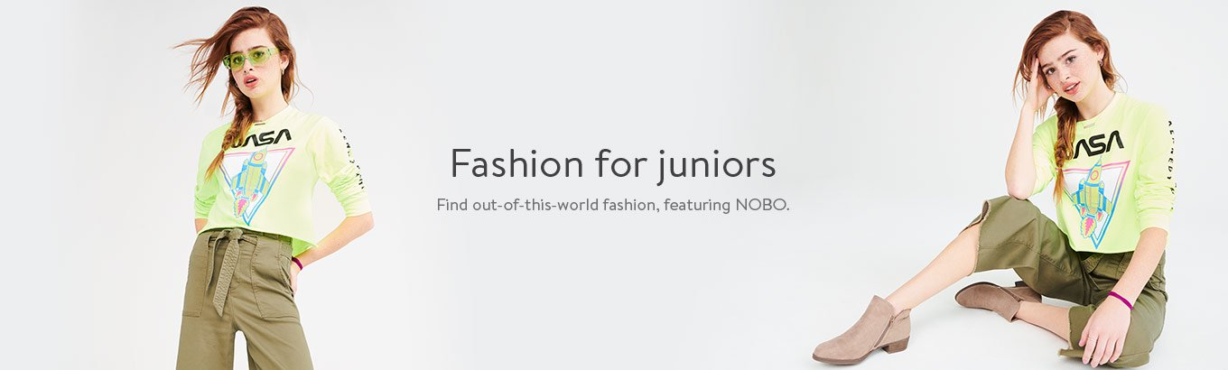Fashion for juniors. Find out-of-this-world fashion, featuring Nobo.