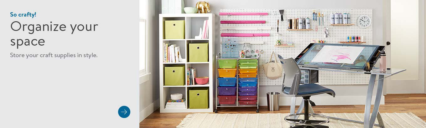 So crafty! Organize your space. Store your craft supplies in style. Shop now.