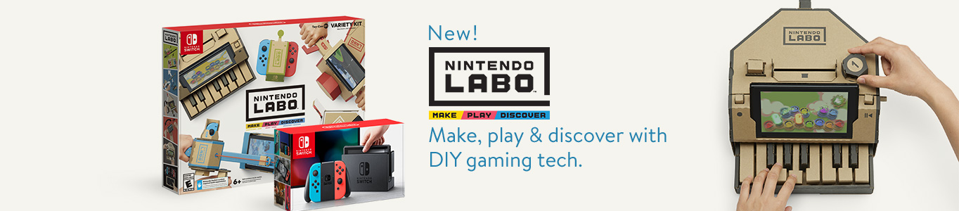 New! Nintendo Labo. Make, play and discover with DIY gaming tech.