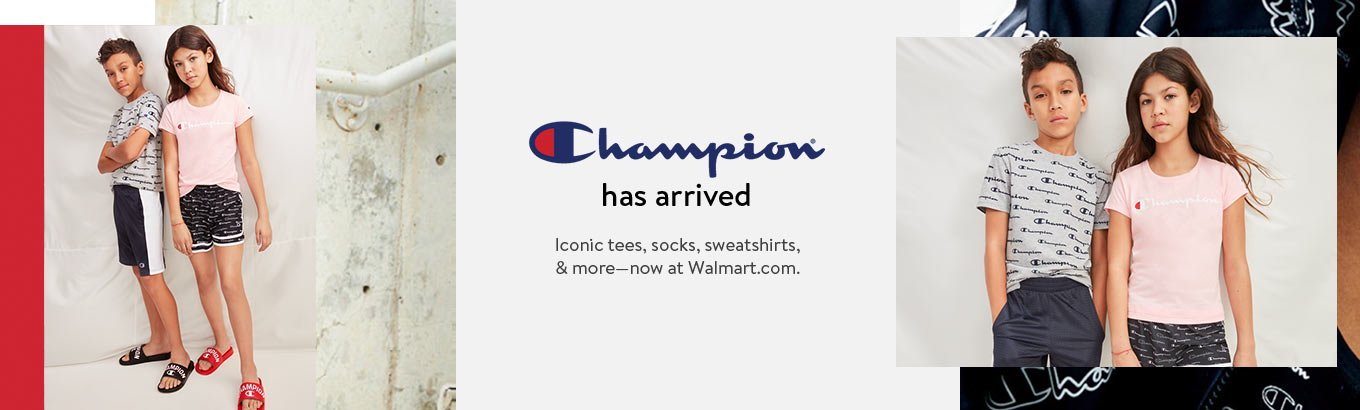 Champion has arrived. Tees, socks, sweatshirts, and more. Now at Walmart.com
