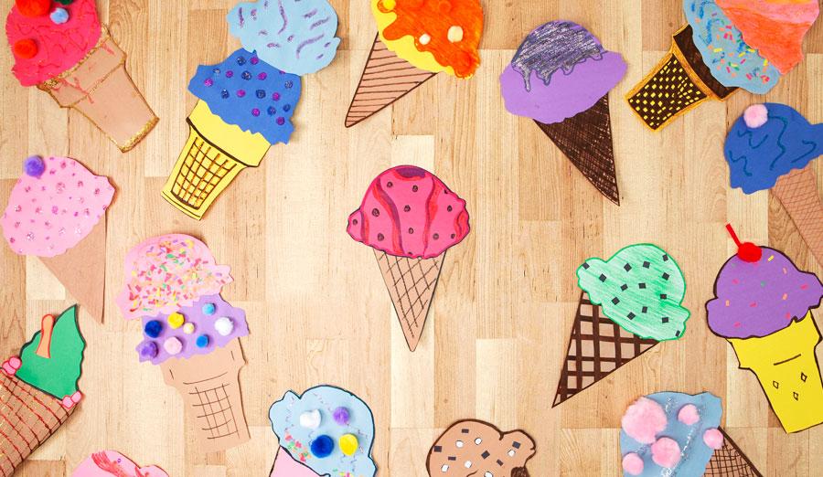How to make cute paper ice cream cone crafts walmart how to make cute paper ice cream cone crafts maxwellsz