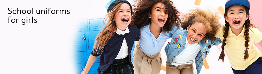 Save on school uniforms for girls.