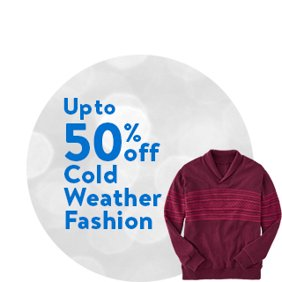 Up to 50% off Cold Weather Fashion. Shop Cold Weather Fashion Deals