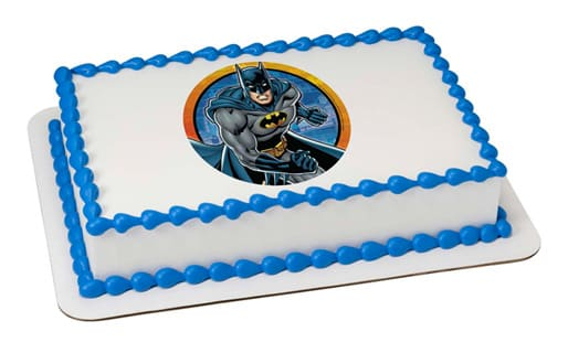 Sheet Cake With Edible Batman Image