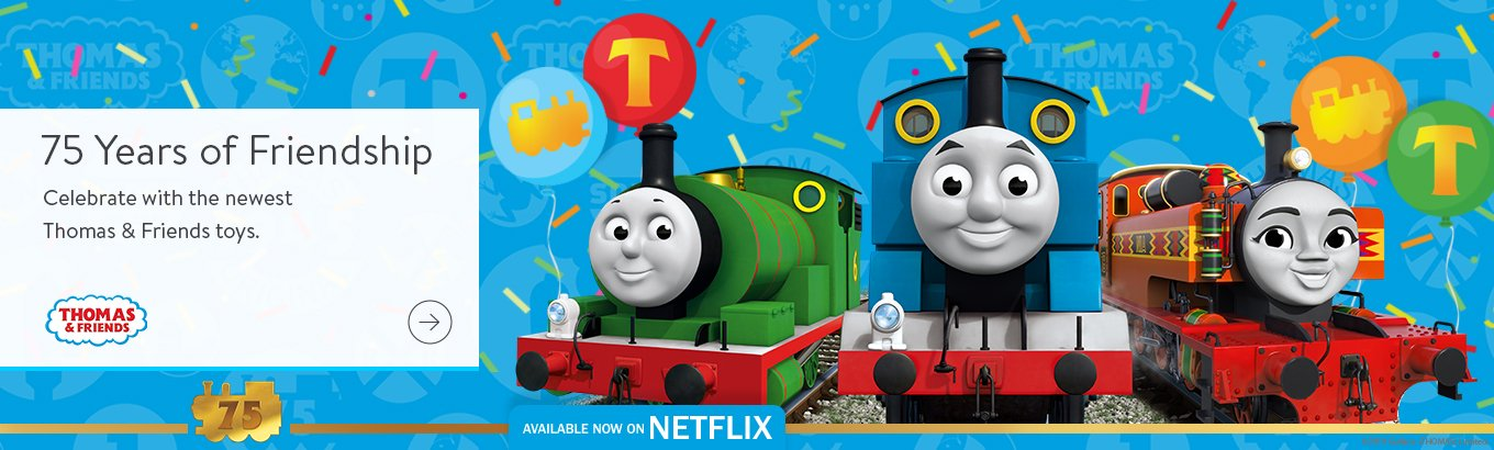 75 years of friendship. Celebrate with the newest Thomas & Friends toys.