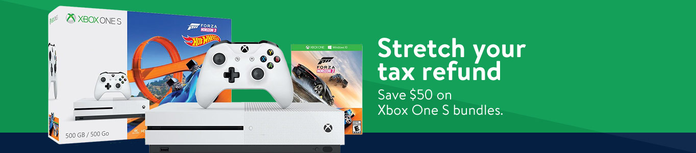 Stretch your tax refund. Save $50 on Xbox One S bundles.