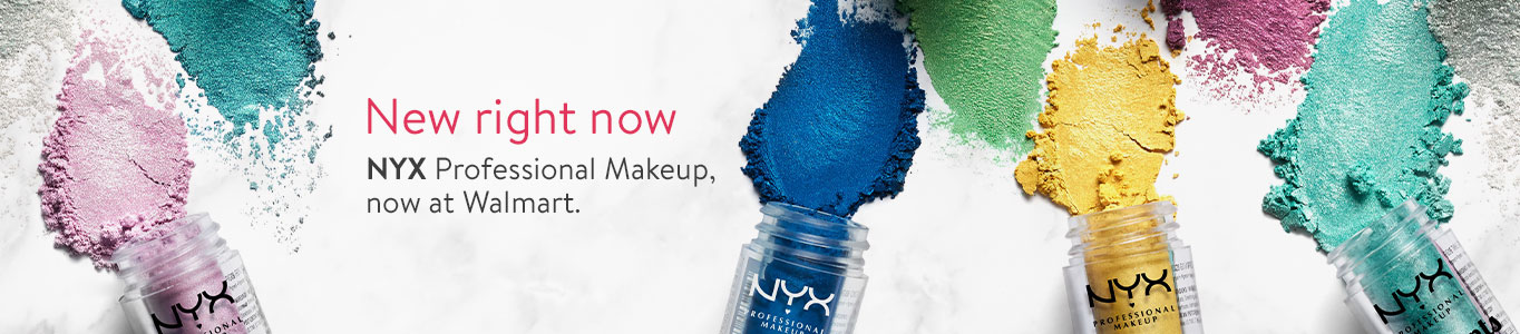 New right now. NYX Professional Makeup, now at Walmart.