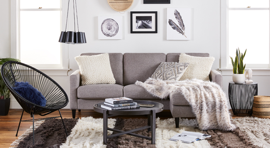 California Cool. Mix modern & boho furniture & accessories for a cool Californian vibe.
