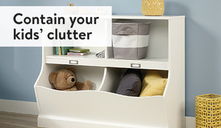 Contain your kids' clutter
