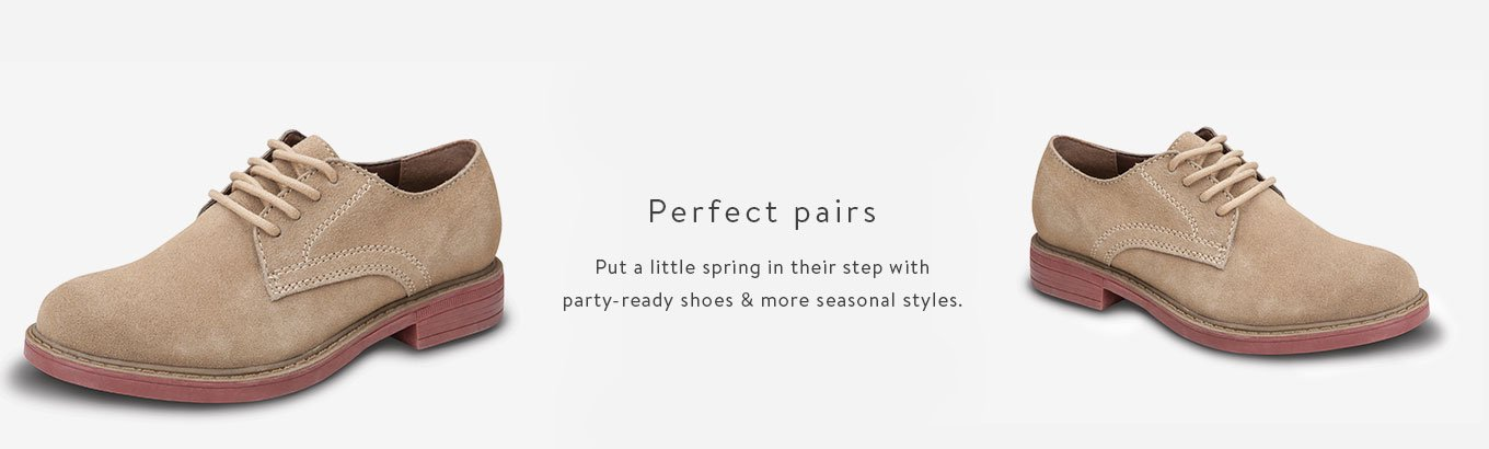 ee65bf66932f Put a little spring in their step with party-ready shoes &