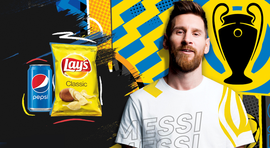 The Perfect Match! Buy a qualifying Lays/Pepsi ecomm bundle and get a UEFA Champions League Game Kit!