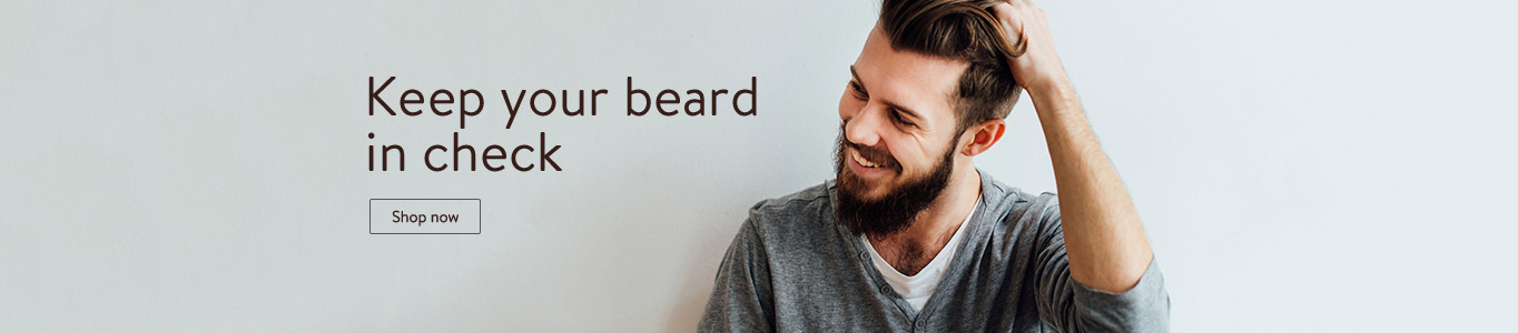 Keep your beard in check with trimmers & groomers @ Walmart.com!
