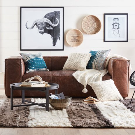 Boho furnishings.
