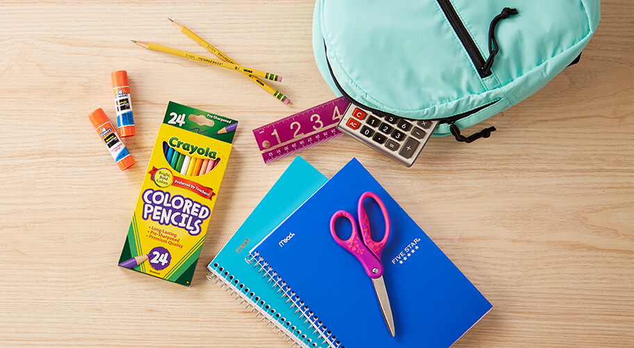 Study Buddies. Stock up and save on school supplies.