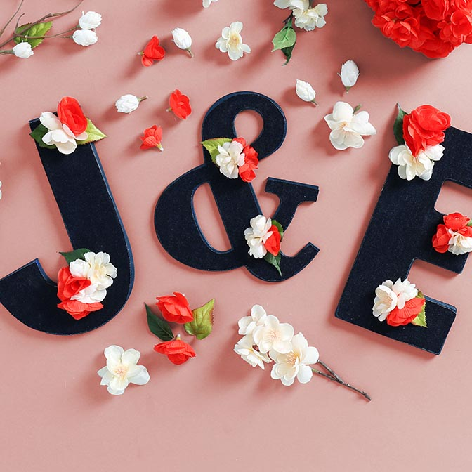 Floral & Fabric Wood Letters How-to