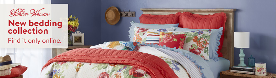 New bedding collection from The Pioneer Woman. Find it only online.