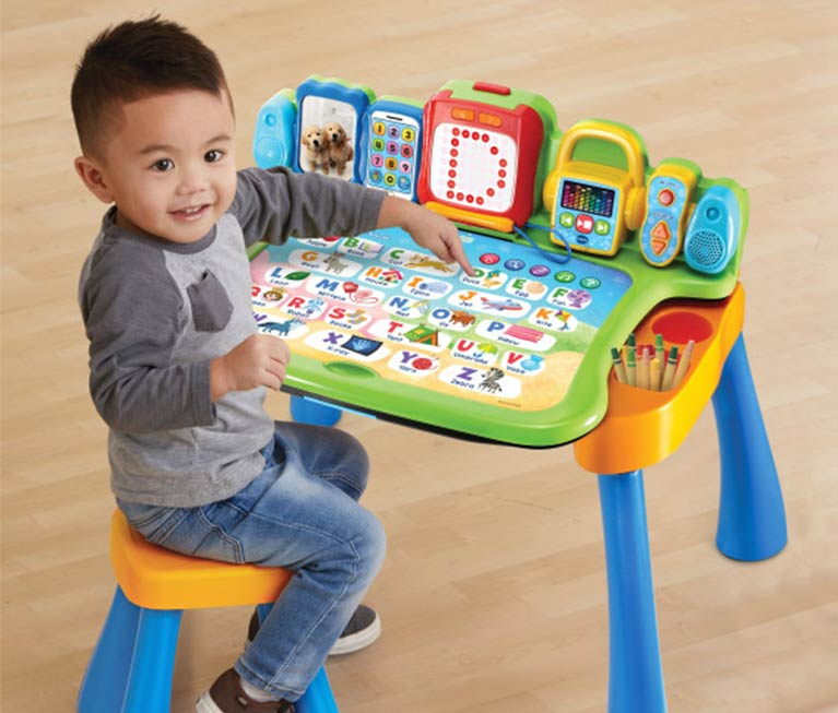 Multifunction Language Learning Table For Kids Baby Early Educational Toy Walker Tablet Reading Machine Puzzle Game Desk Mother & Kids Activity & Gear