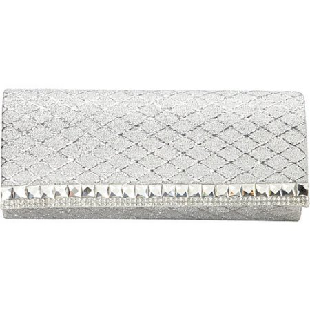 Women's J. Furmani Glitter Flap Clutch