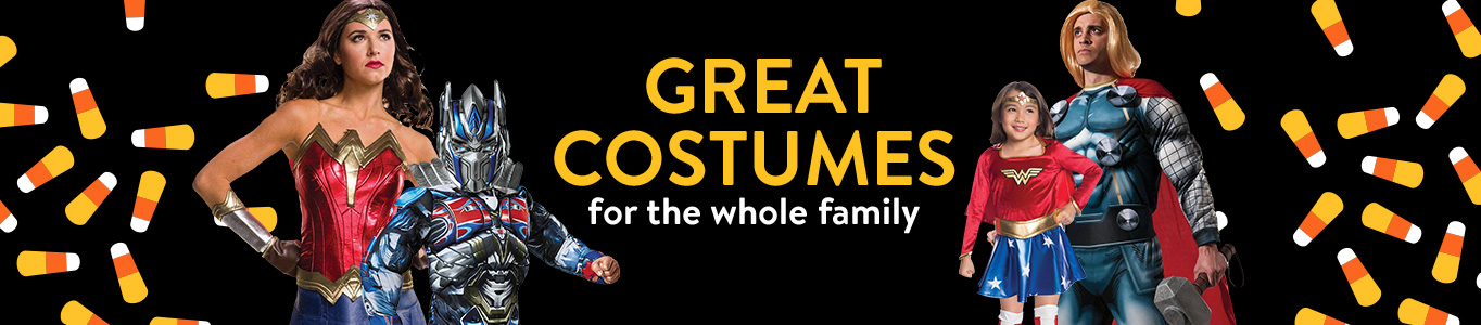 Great costumes for the whole family