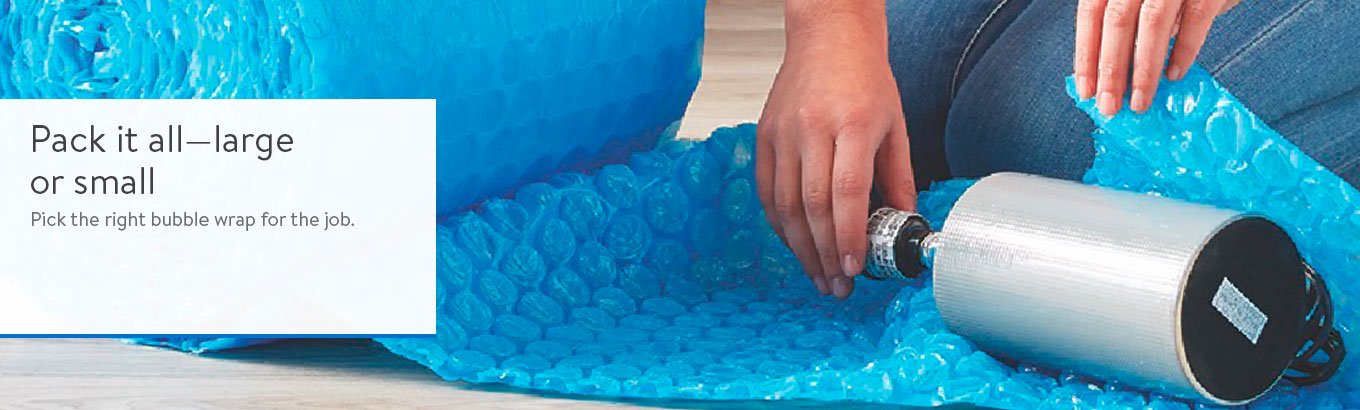 Pack it all—large or small. Pick the right bubble wrap for the job.