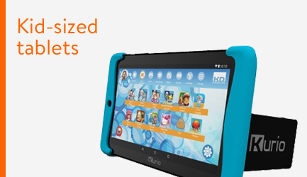 Kid-sized electronic tablets.