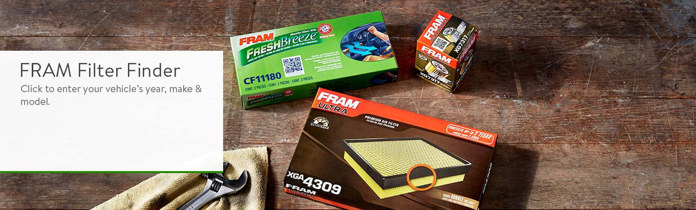 FRAM Filter Finder: Click to enter your vehicle's year, make and model.