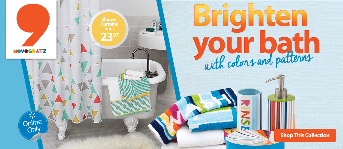 Brighten your bath with colors and patterns