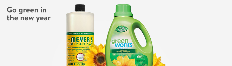 Go green in the new year with natural household essentials