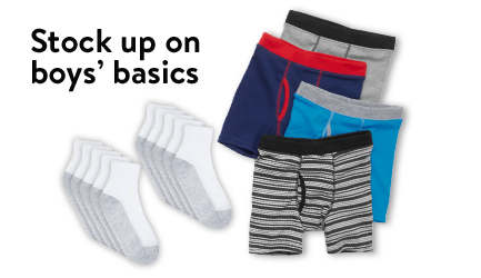 Stock up on boys' basics