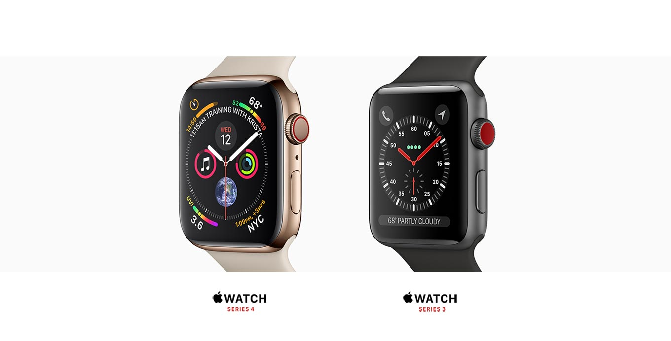 Apple Watch Series 3 and Series 4