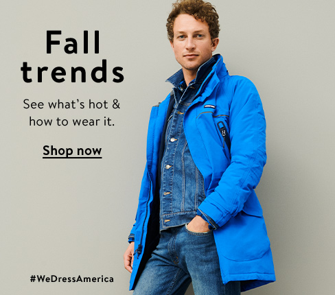 Fall trends are in, featuring layered up. Shop this trend.
