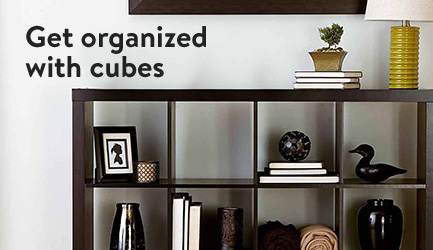 Get organized with cubes