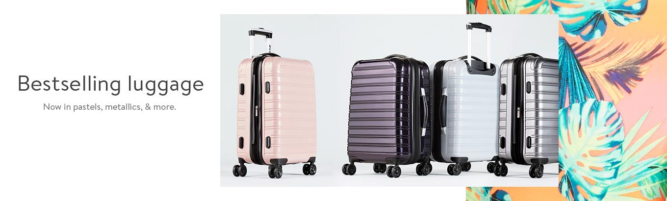 The vacation shop. Get packing with the latest luggage.