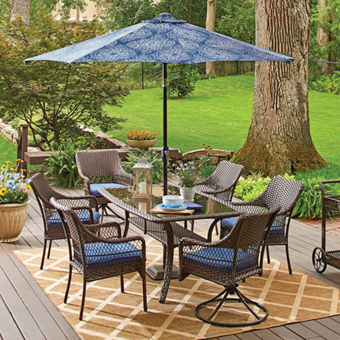 patio furniture walmart com rh walmart com patio table with umbrella patio furniture with umbrella on sale