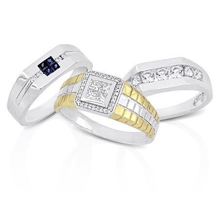all mens wedding bands - Mens Diamond Wedding Rings