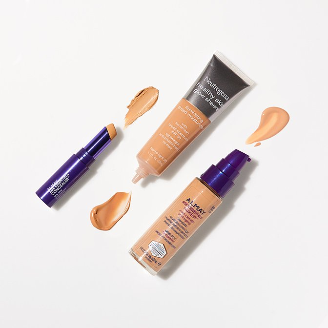 Add extra protection with SPF-infused formulas.