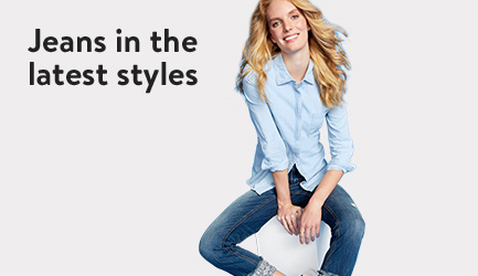 Jeans in the latest styles