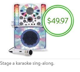 Shop karaoke machine