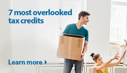7 most overlooked tax credits. Click to learn more.