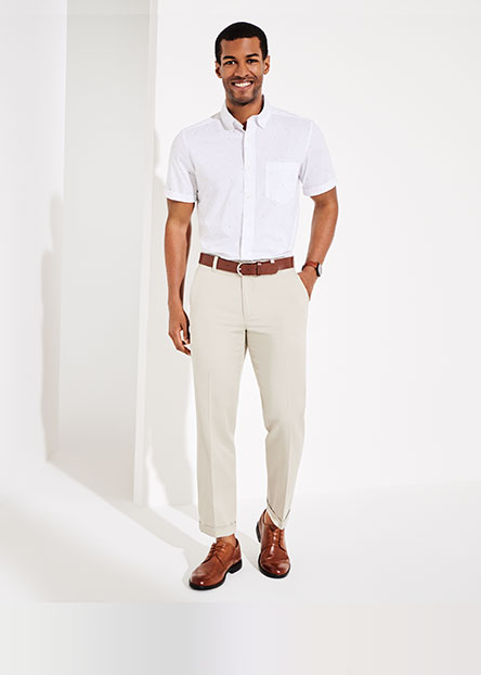 31e1950e7f6e Casual. Opt for a modern, cropped chino. Dress it up with a polished