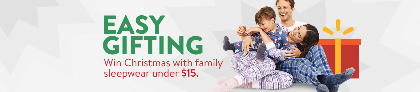 Easy gifting: Win Christmas with family sleepwear under $15