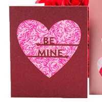 Homemade heart greeting cards 2 die cut ideas for valentine die cut valentines day card that says be mine m4hsunfo