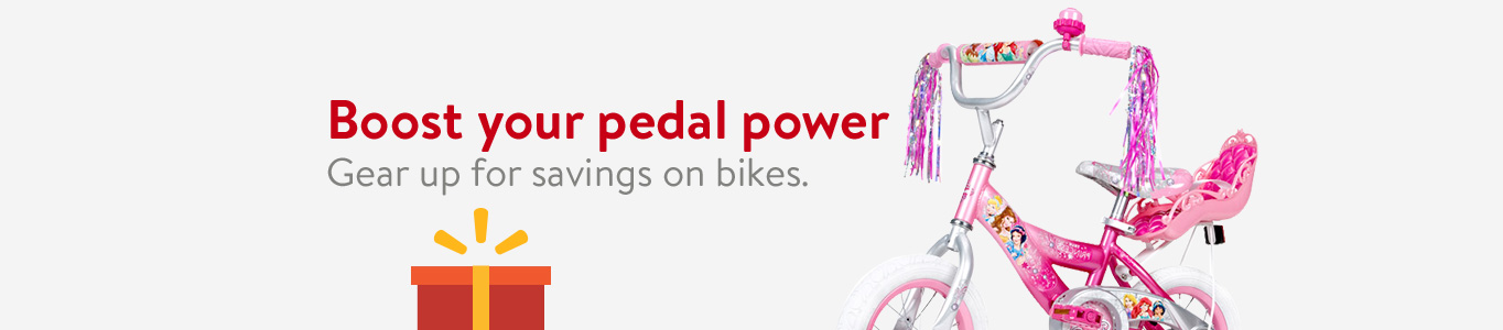 Boost your pedal power. Gear up for savings on bikes.