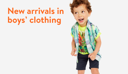 New arrivals in boys' clothing.