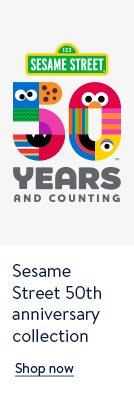 Sesame Street 50th Anniversary collection Shop now
