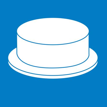 Single Layer Round Cake