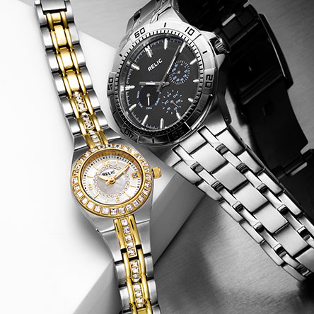 539d27c1c62a Men's and women's watches in silver and gold.