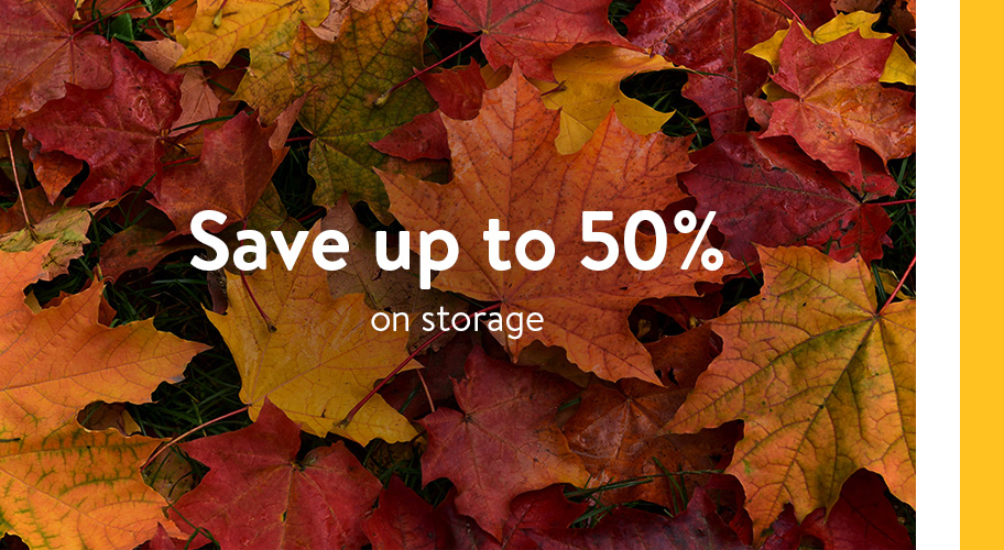 Save up to fifty percent on all your favorite storage items for a limited time this fall. Find bins, baskets, and shelving to get every room organized for less.