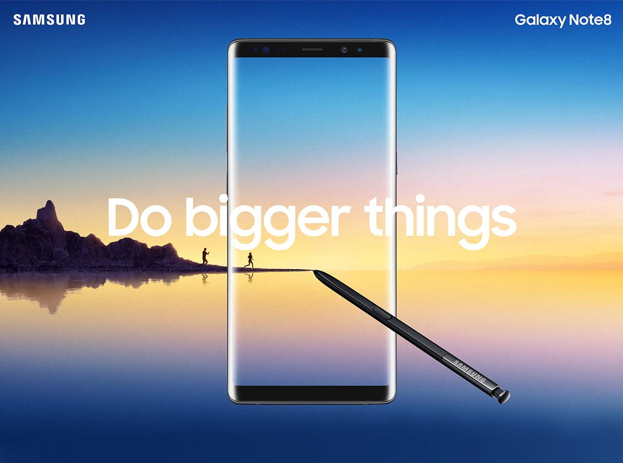 Samsung Galaxy Note 8. Do bigger things.