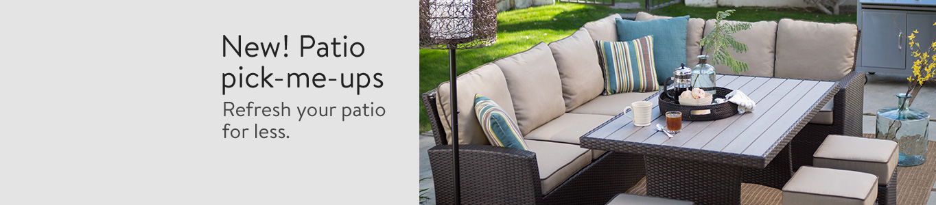 Refresh Your Patio For Less.